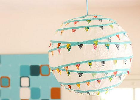 Decorar lámpara para fiesta