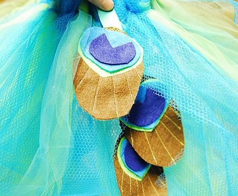 disfraz casero pavo real tiras