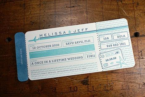 Invitación de boda original