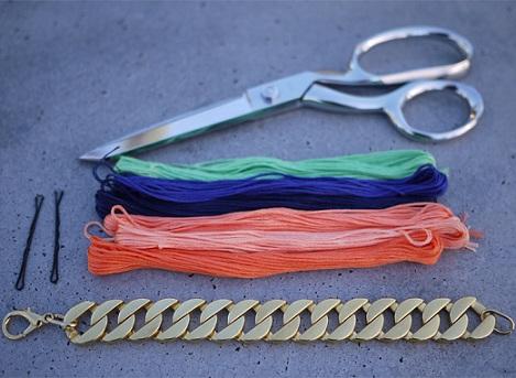 pulseras de colores materlales