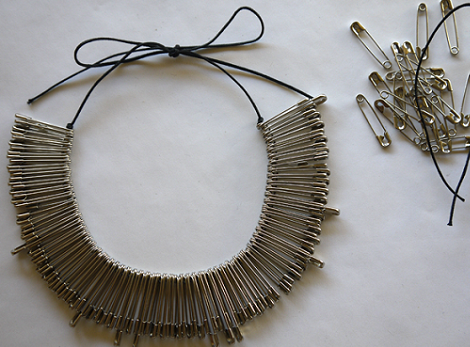 collares diy de imperdibles
