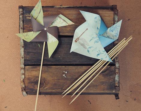 Como hacer molinillos de papel