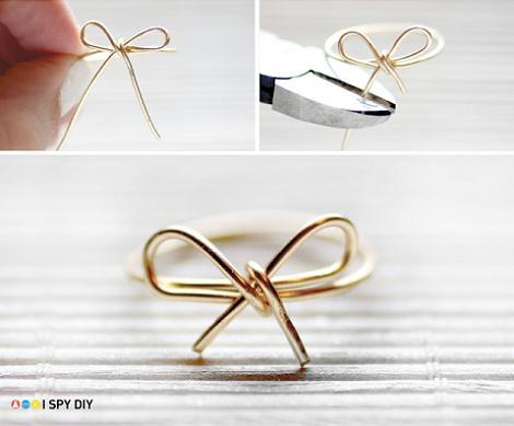 Cómo hacer un anillo de lazo