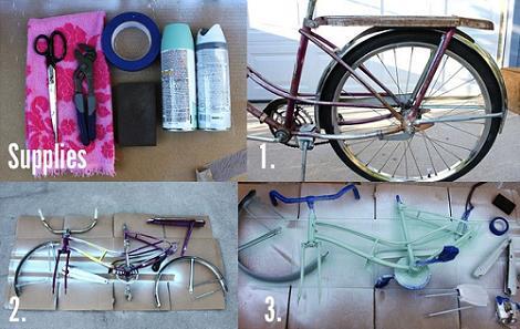 Cómo pintar una bicic