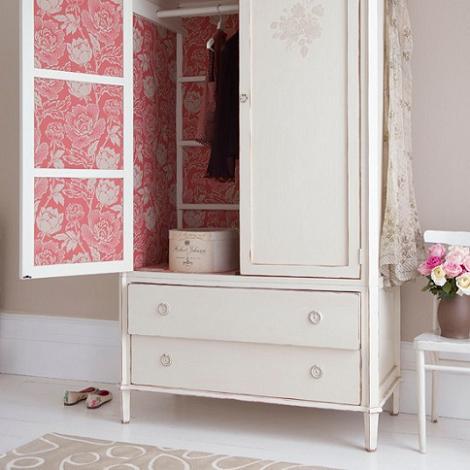 Empapelar armario clásico