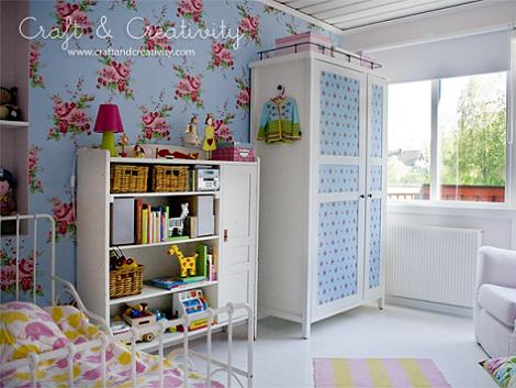 Empapelar armario niños