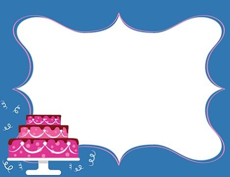 invitaciones cumpleanos imprimir pastel