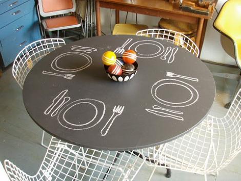 Mesa cocina pizarra
