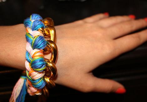 pulseras de cadena e hilos diy