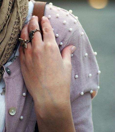 Chaqueta de perlas