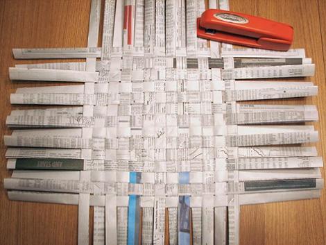 Hacer cesta de papel