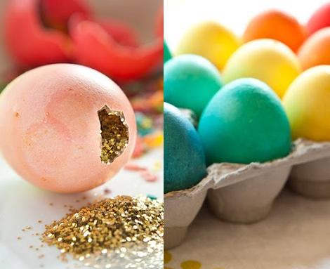 huevos de pascua de confeti