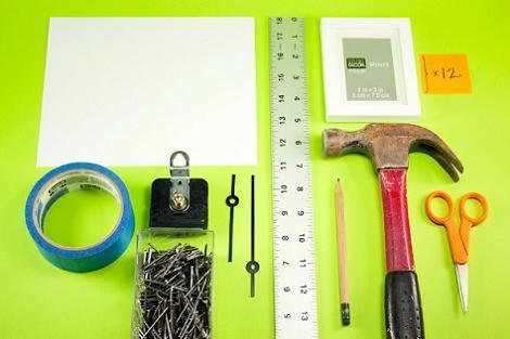 materiales reloj de pared