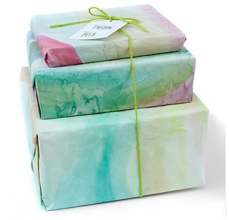 Papel de regalo casero
