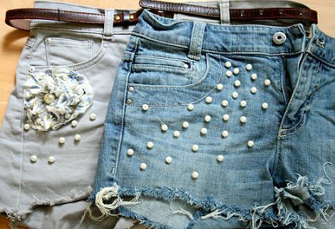 Shorts perlas