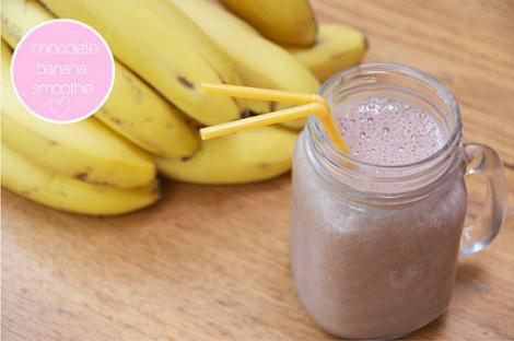 Batido de chocolate y plátanoi