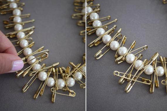 como personaliza un collar de perlas
