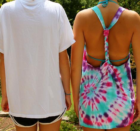customitar camisetas tenido tye dye