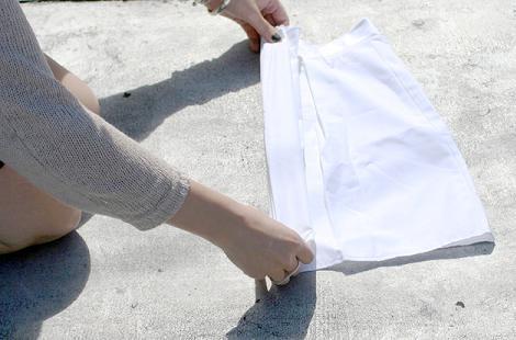 Doblar falda