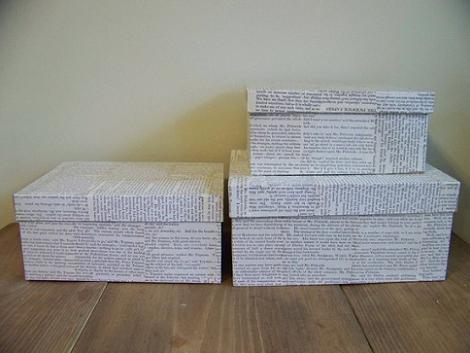 Forrar cajas de periódico
