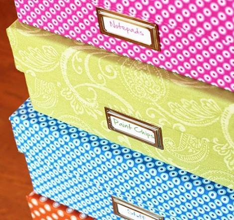 Forrar cajas con tela