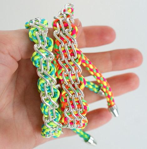 hacer pulseras con cordones