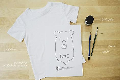 Pintar camiseta niño