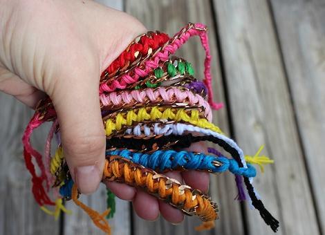pulseras de hilos de colores diy