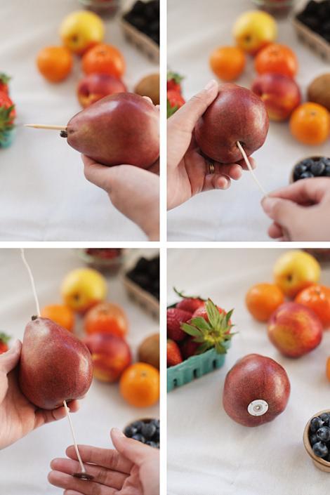 Velas con frutas