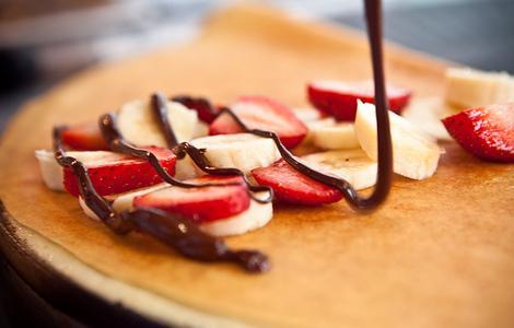 como hacer crepes de chocolate y frutas