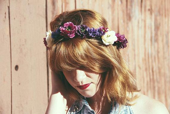 como hacer una corona de flores