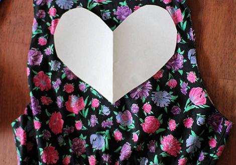 Cortar corazón espalda