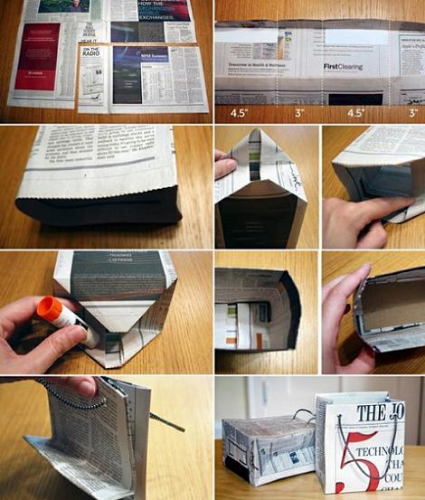 Hacer bolsas de papel