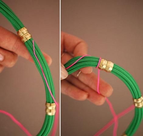 hacer collares etnicos cordones hilo