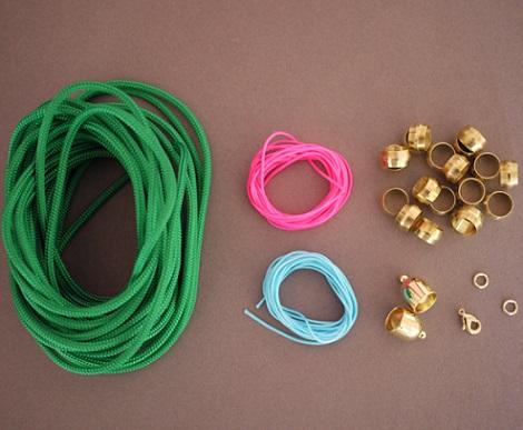 hacer collares etnicos cordones materiales