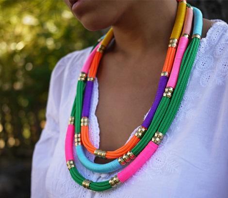 hacer collares etnicos cordones