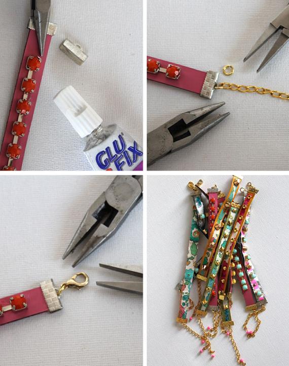 hacer-pulseras-de-cuero-de-colores-y-piedras-4