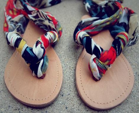 recicla ropa sandalias panuelo resultado