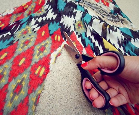 reciclar ropa sandalias panuelo tela