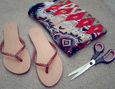 recicla ropa sandalias panuelo