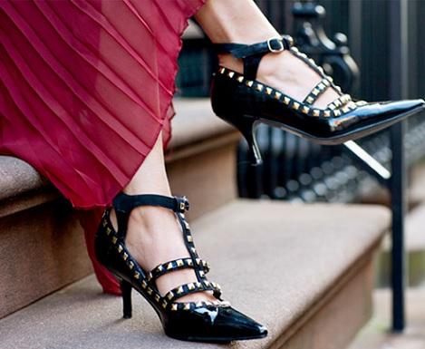 zapatos tachuelas valentino caseros resultado
