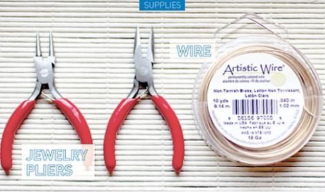 anillo alambre rapido materiales