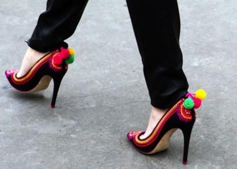 clon zapatos moda verano pom pom originales