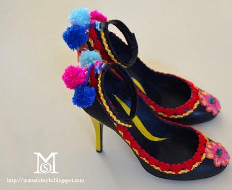 clon zapatos moda verano pom pom