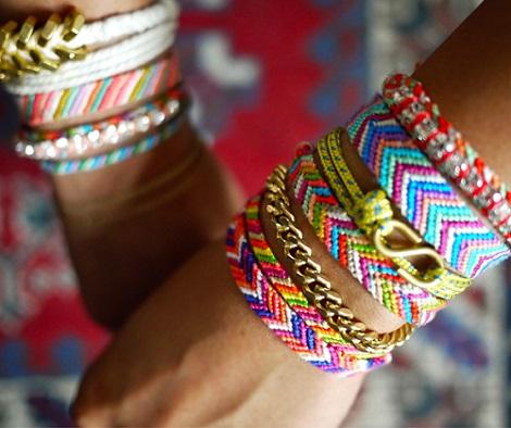 como hacer pulseras hilo colores
