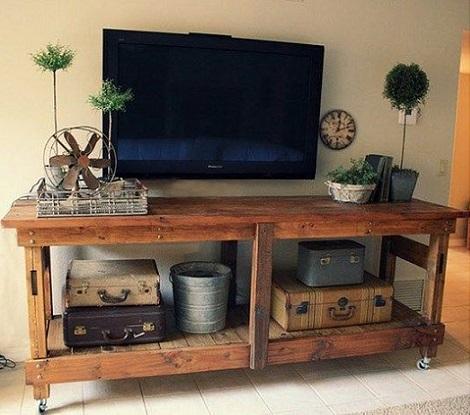 muebles faciles palets tele