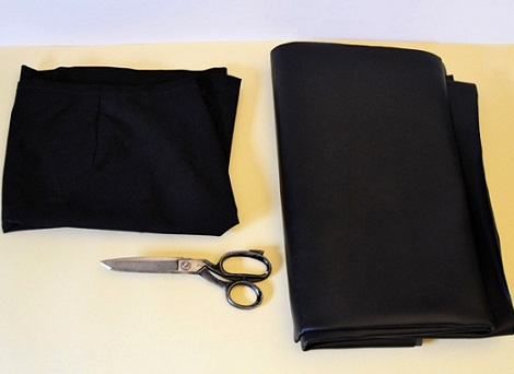 falda casera flecos materiales