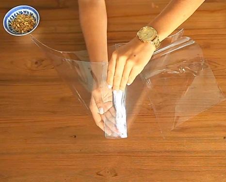 satchel bag transparente plastico