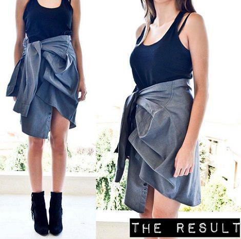 resultado falda camisa moda otoño 2013