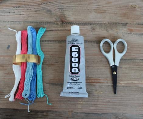 pulsera rígida hilos fácil materiales